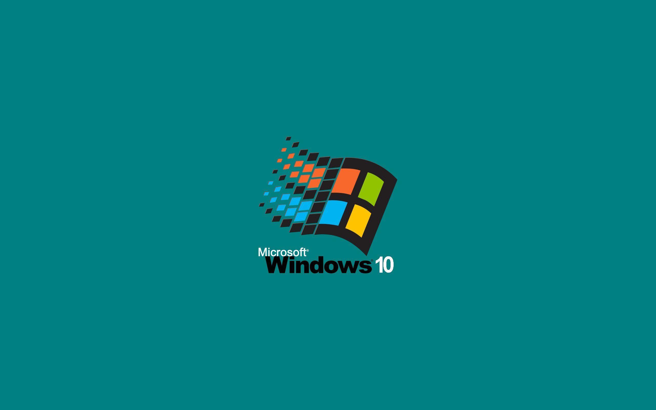 logo fond bleu windows 95