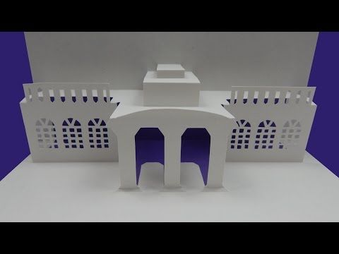 How To Make An Architecture Pop Up Card House Building Greeting Card Diy Tutorial Free Pattern Youtube Greeting Cards Diy Pop Up Cards Diy Cards