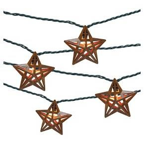 Target Solar String Lights Ul 10 Count Indooroutdoor String Light  Metal Star Cover