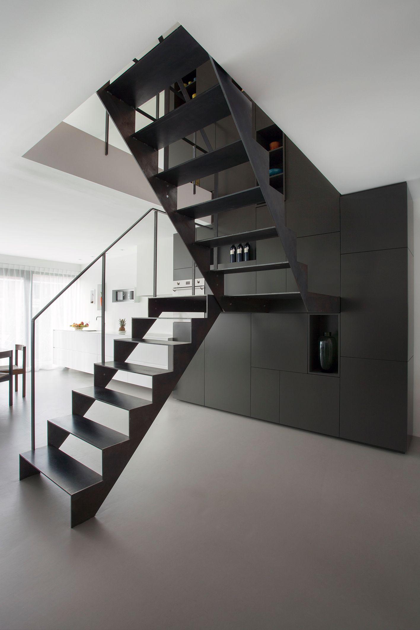 Best 25 Open Staircase Ideas On Pinterest: Geblauwd Stalen Trap