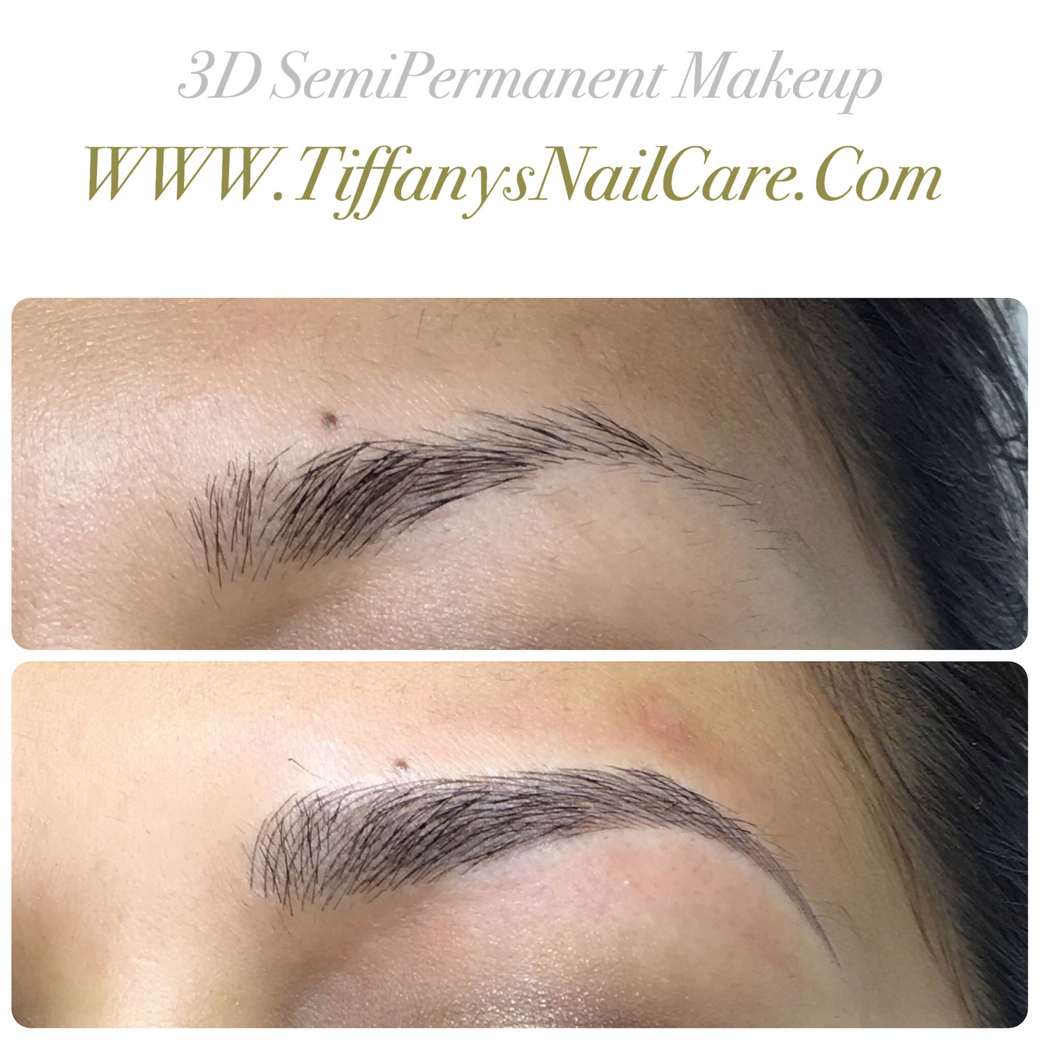 Microblading 3d Hair Strokes: 3d Hair Stroke Semi Permanent Makeup Brow Tattoo. Cosmetic