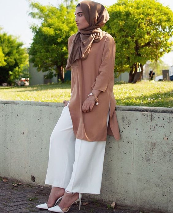 Best Culotte Pant Hijab Outfit Ideas for Muslim Girls | Fashion ...