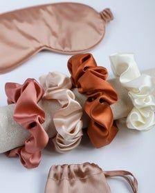 Silk scrunchy silk satin scrunchie silk tie silk ivory beige | Etsy