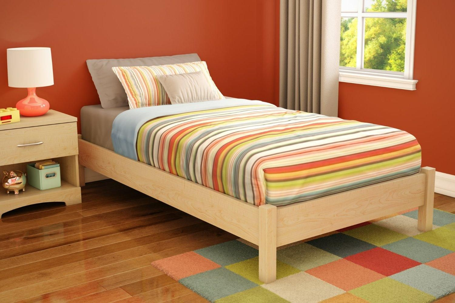 Simple DIY Twin Bed Frame With Storage — Twin Bedding