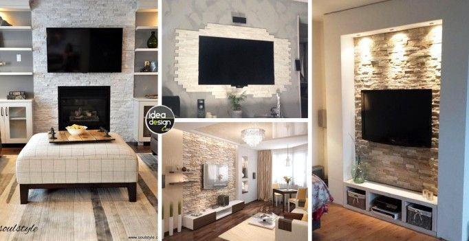 Decorare La Parete Tv Con Le Pietre 20 Idee Idee