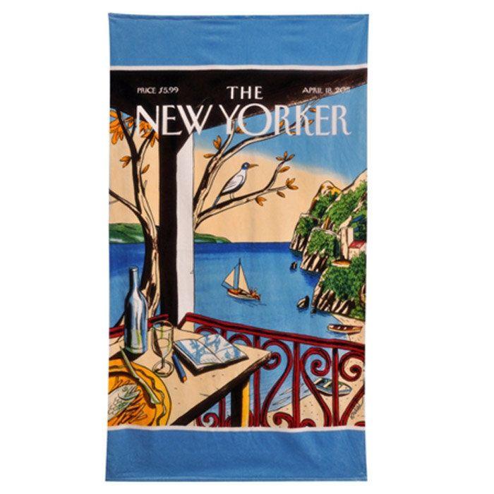 New Yorker Magazine Beach Towel Sailboat Beach Beach Stuff