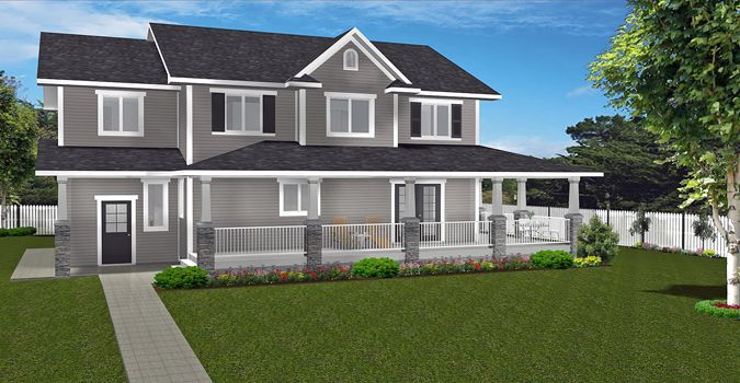 Plan 2015888 Perfect 2 Storey Plan For An Acreage Farmhouse Or Larger Town Lot A Large Covered Veranda With Craftsm Farmhouse Exterior Two Storey House Plans