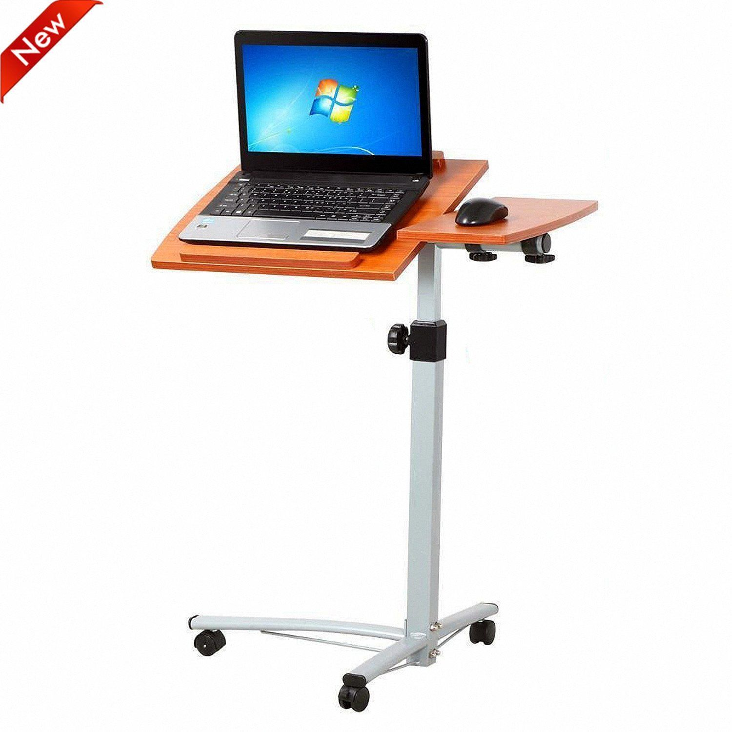go2buy Overbed Rolling Angle and Height Adjustable Laptop