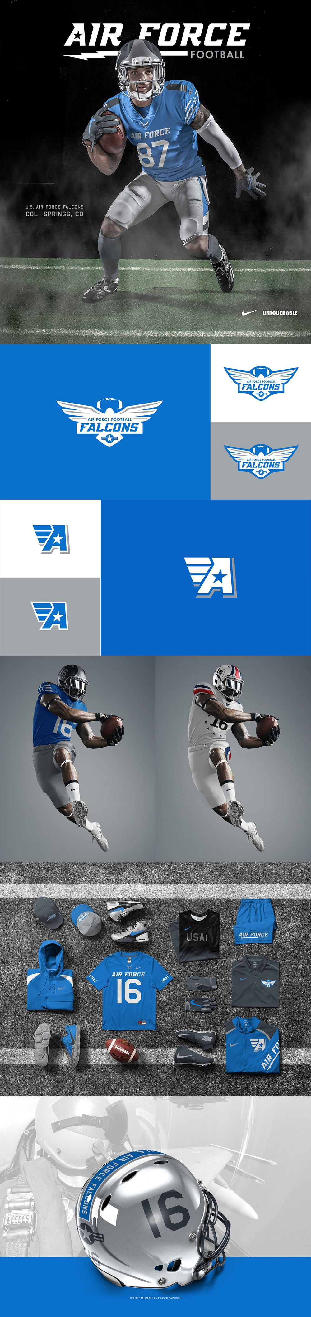 air force football brand identity project on behance branding id