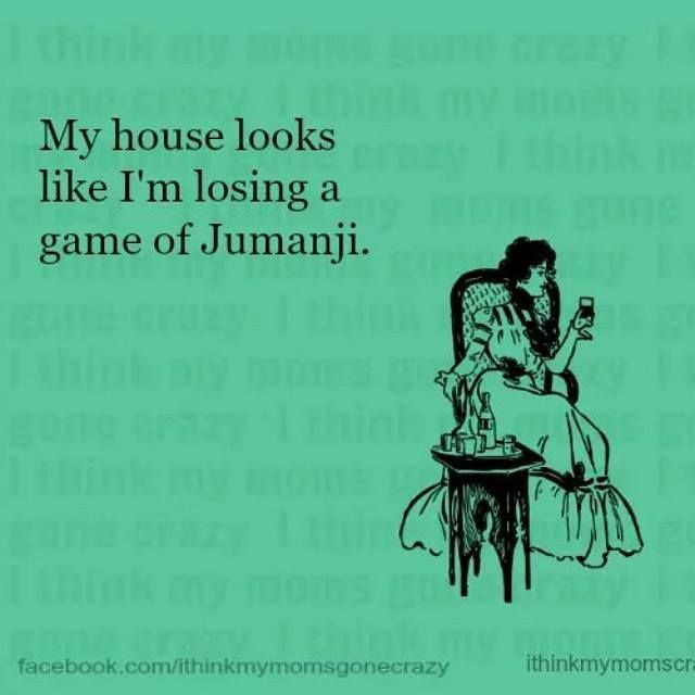 Last Year One Of My Friends Who Lives In Another State Visited Me Your House Looks Like The House In Jumanji She Said A Funny Quotes Mom Humor Haha Funny