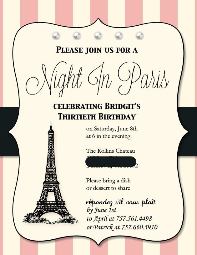 my digital studio  paris birthday birthdays and studios, invitation samples