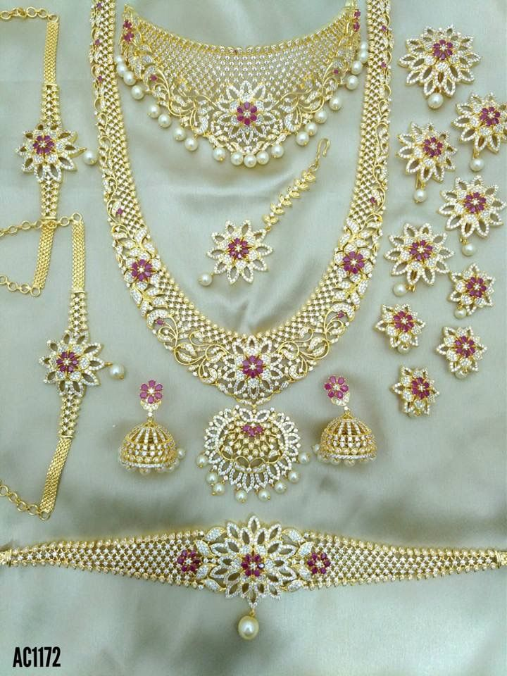 One Gram Gold Jewellery Dm For Rates Interested Customers Whatsapp Or Call Indian Bridal Jewelry Sets Gold Jewelry For Sale Necklace Set Indian Bridal Jewelry