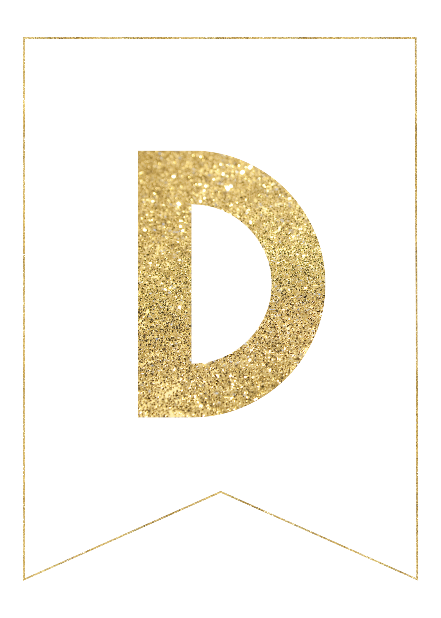 Gold Free Printable Banner Letters | Templates | Free ...