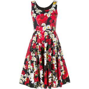 Dolce & Gabbana Floral Print Cotton Dress
