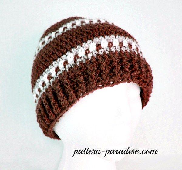 Free crochet pattern for mens hat beanie, womens hat #crochet ...