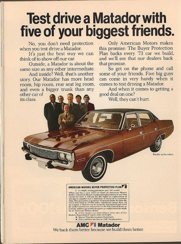 1973 amc american motors matador advertisement newsweek march 19 1973