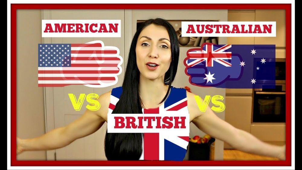 American vs british vs australian common english dialect