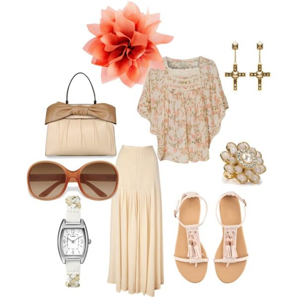 Imagine, created by bibliobetty on Polyvore.  Without the jewelry though.