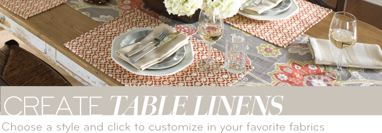 Custom Table Linens | Design Your Own Table Runners, Placemats ...
