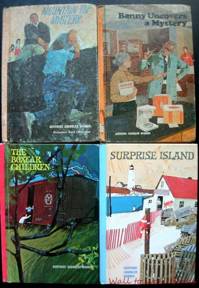 4 Boxcar Children Mystery Hc Books Gertrude Chandler Warner 1970 S