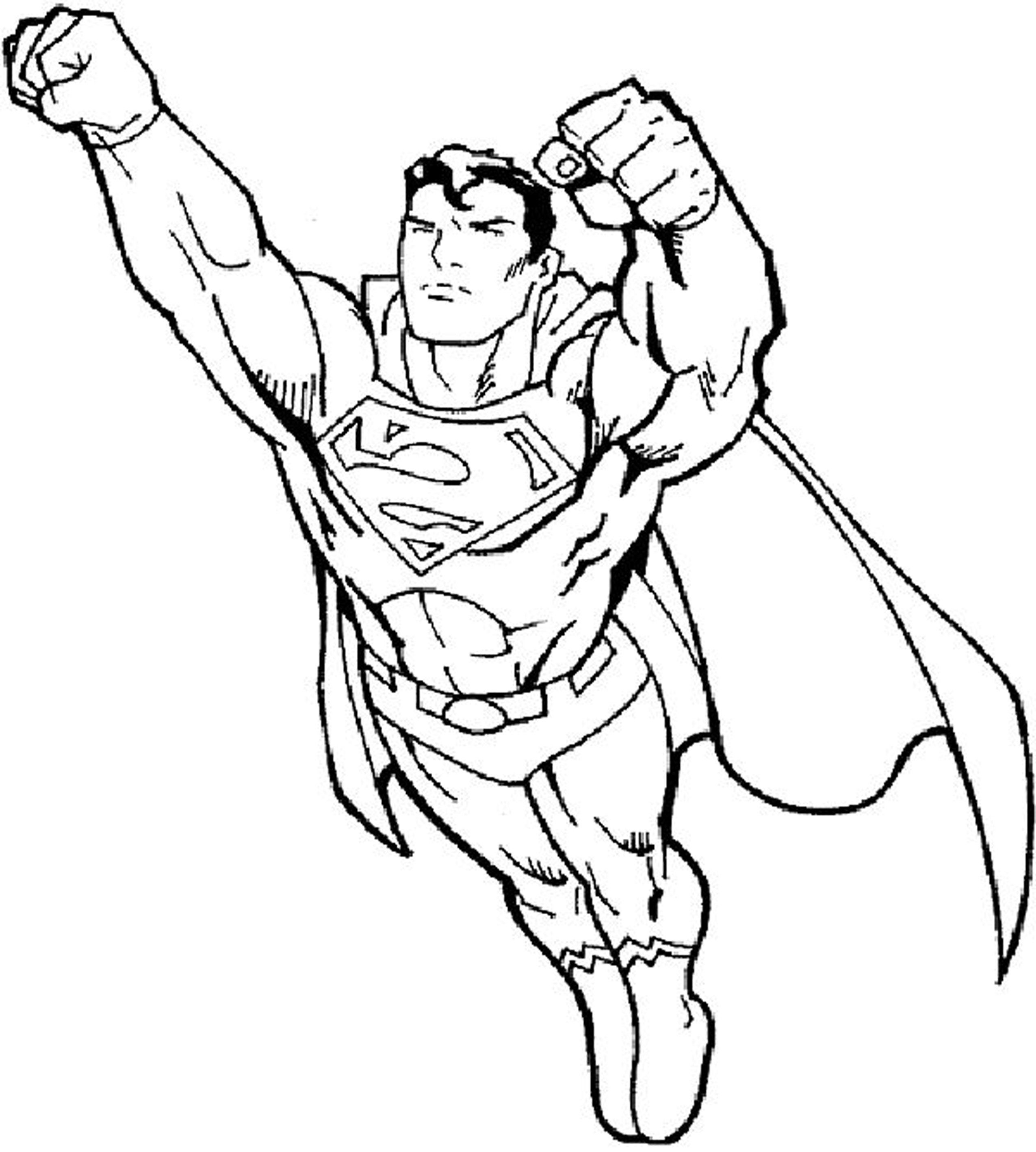 Free Coloring Pages For Boys Superman