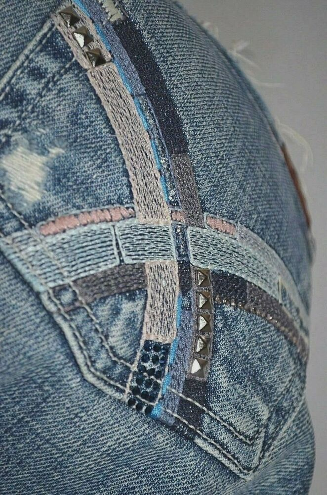 New 7 For All Mankind Gem Bootcut Jean Womens Size 28 Ladies Uk 8