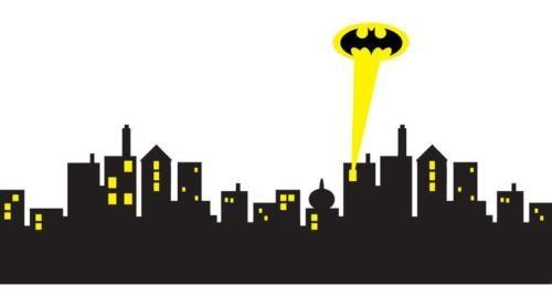 6 Sizes Gotham City Skyline Batman Decal Removable Wall