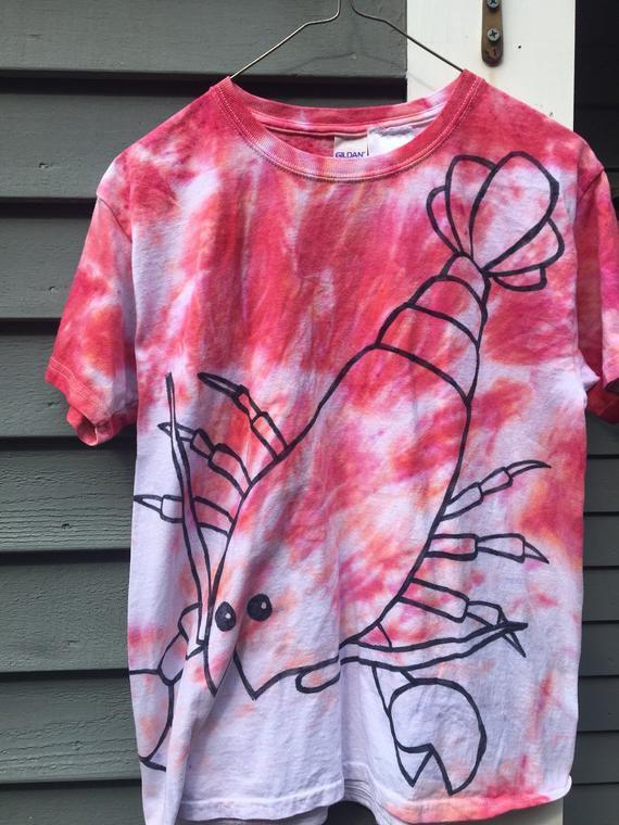 0994117f Lobster Shirt, Custom Tie Dye Lobster T-shirt, Tie Dye Shirt, Beach Shirt,  Ocean Theme, Nautical, Ma