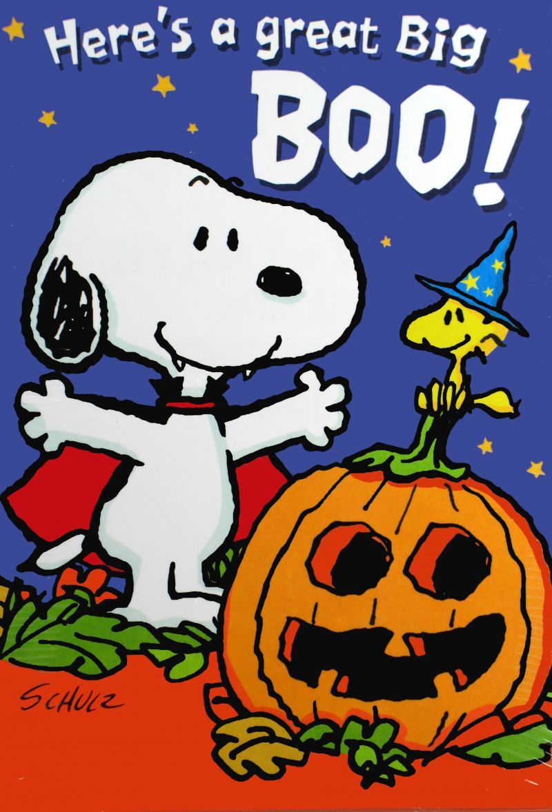 Snoopy Halloween Card Set Snoopn4pnuts