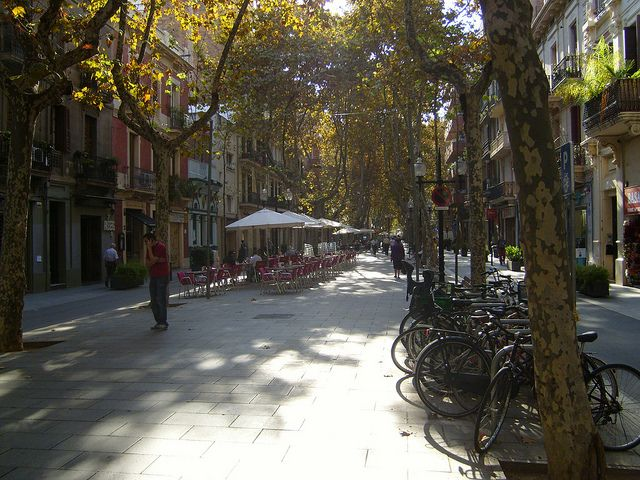Rambla de Poble Nou in the morning by Oh-Barcelona.com, via Flickr