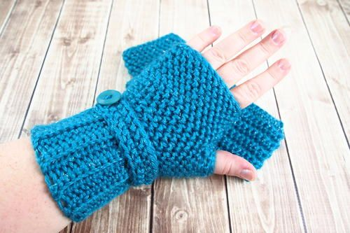 Herringbone Crochet Fingerless Gloves