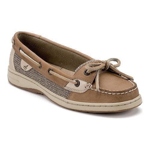 Women s Sperry Top-Sider Angelfish Boat Shoe Linen Oat (Brown) (US Women s  8.5 W (Wide)) 9f9528a636e