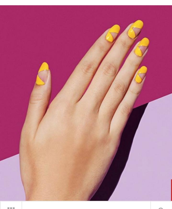 Yellow Negative Space Nail Art Summer Nail Designs Summer Cute Summer Nail Designs