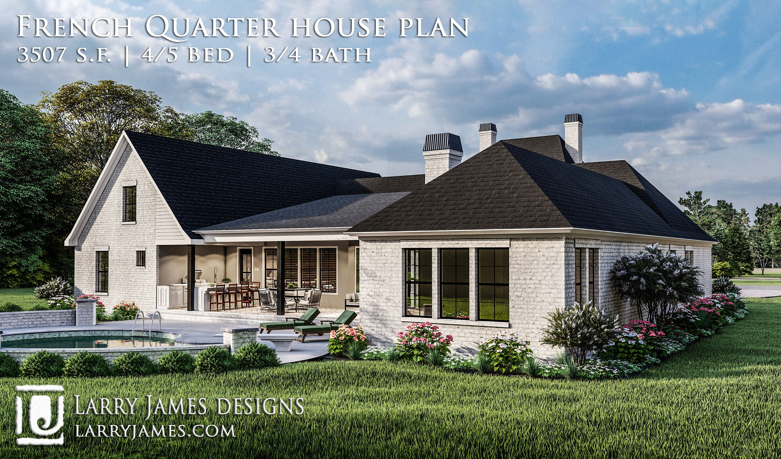 French Quarter Plan 1974 Country Style House Plans French Country House Plans French Country House