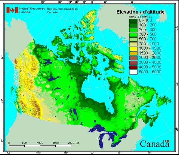 elevation map of canada - Google Search | Favorite Places ... on geographic information system map, floor map, political map, maritime climate map, oblique projection map, mountain map, topo map, area map, time zone map, vegetation map, terrain map, precipitation map, latitude map, current events in 2013 map, relief map, contour map, physical map, niche map, coordinate grid map, geographic location map,