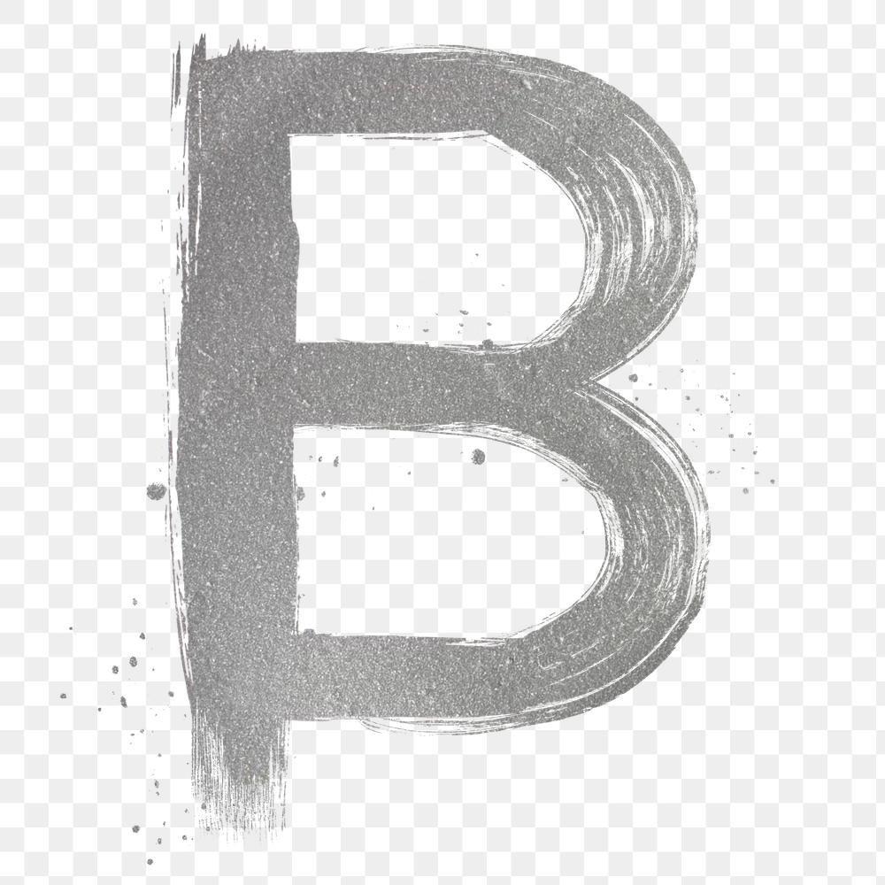 Transparent Letter B Silver Brush Stroke Font Free Image By Rawpixel Com Hein Brush Stroke Font Letter B Brush Strokes