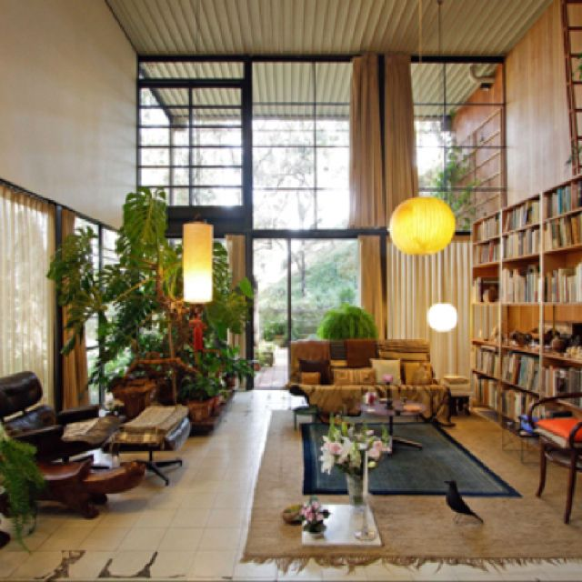 The Eames House in Pacific Palisades.