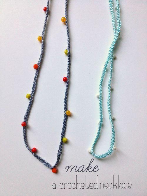 Crochet Necklace DIY | Collares, Bisutería y Pulseras