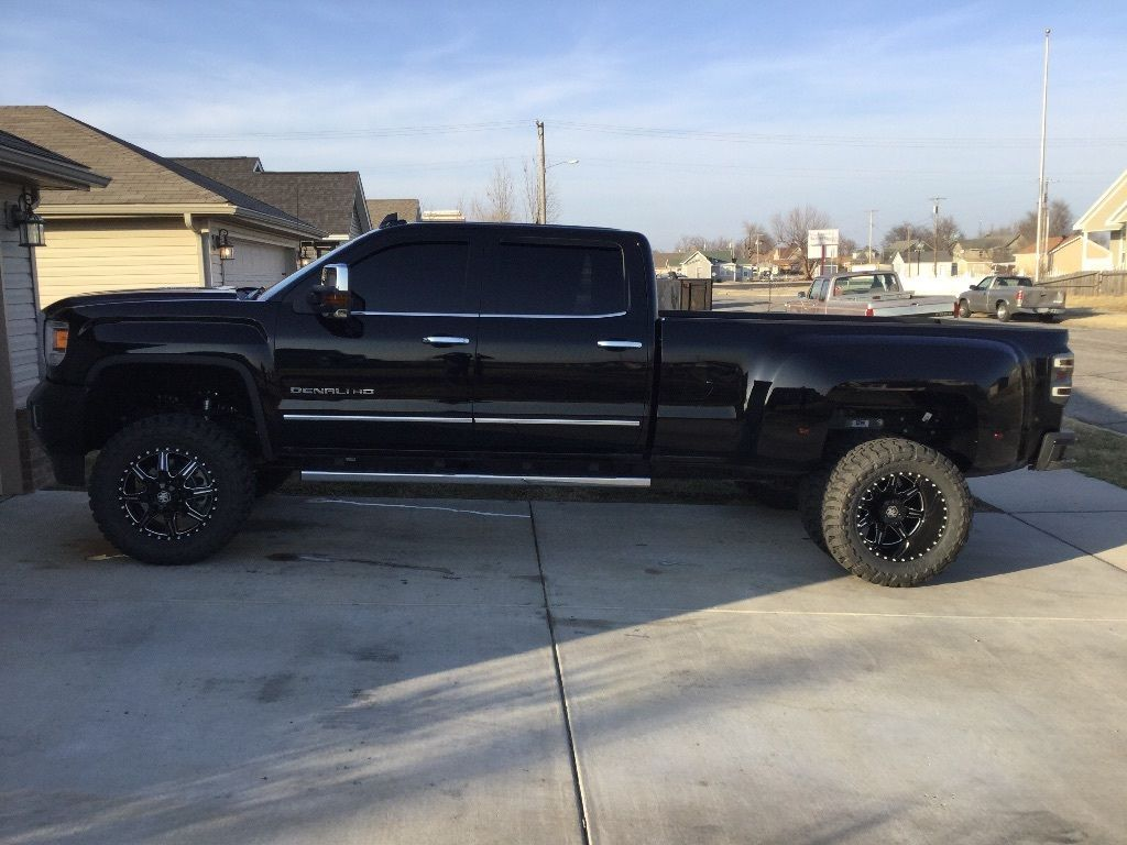 All Black 2016 Gmc Sierra 3500 Denali Lifted Dually Trucks