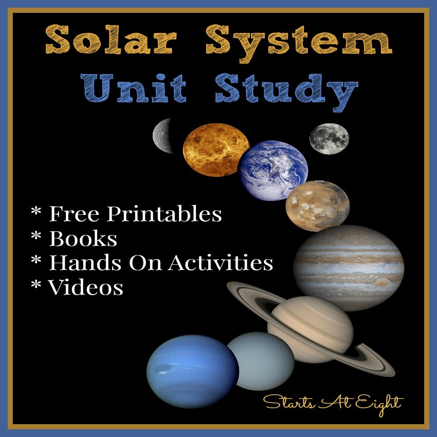 Solar System Unit Study | Elementary science, Solar system ...