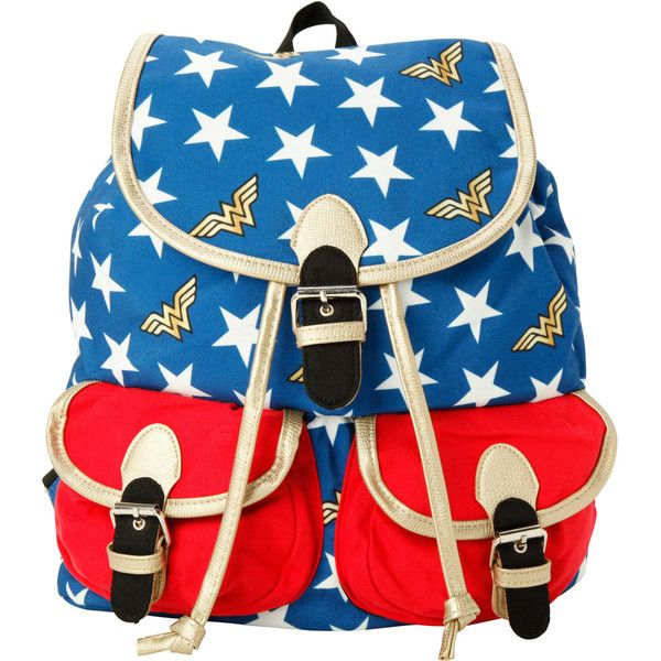 DC Comics Wonder Woman Medium Slouch Backpack (£22) ❤ liked on Polyvore featuring bags, backpacks, royal blue, blue bag, blue drawstring backpack, drawstring backpacks, slouchy bags and drawstring knapsack