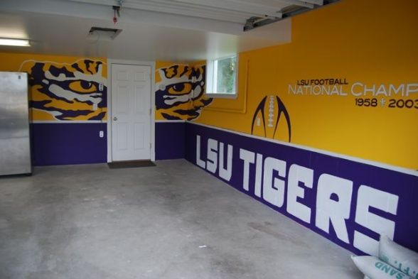 I Was Able To Paint The Walls Just Not With All The DetailWould Inspiration Lsu Bedroom Style Painting