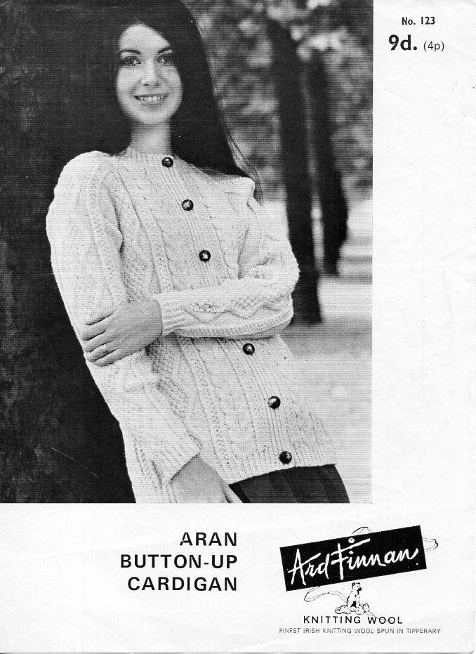 ladies aran cardigan knitting pattern pdf womens aran jacket cable ...