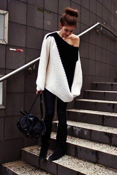 bun & sweater