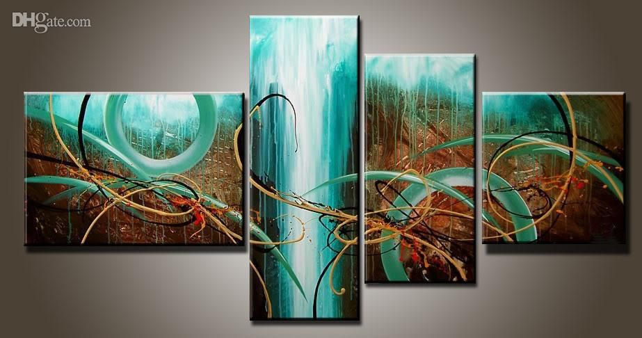 Art Modern Abstract Oil Painting Multiple Piece Canvas Art Sets Green Passion New Arrivals From Topchin Huge Wall Art Abstract Wall Art Large Abstract Painting