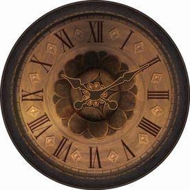 Allen Roth Analog Round Indoor Wall Clock 63177 Large Wall Clock Bronze Clock Wall Clock