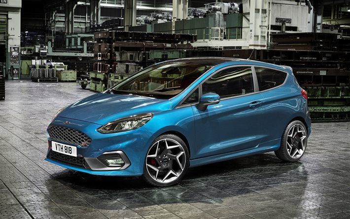 Scarica Sfondi Ford Fiesta St 2018 Nuova Fiesta Blu Tuning