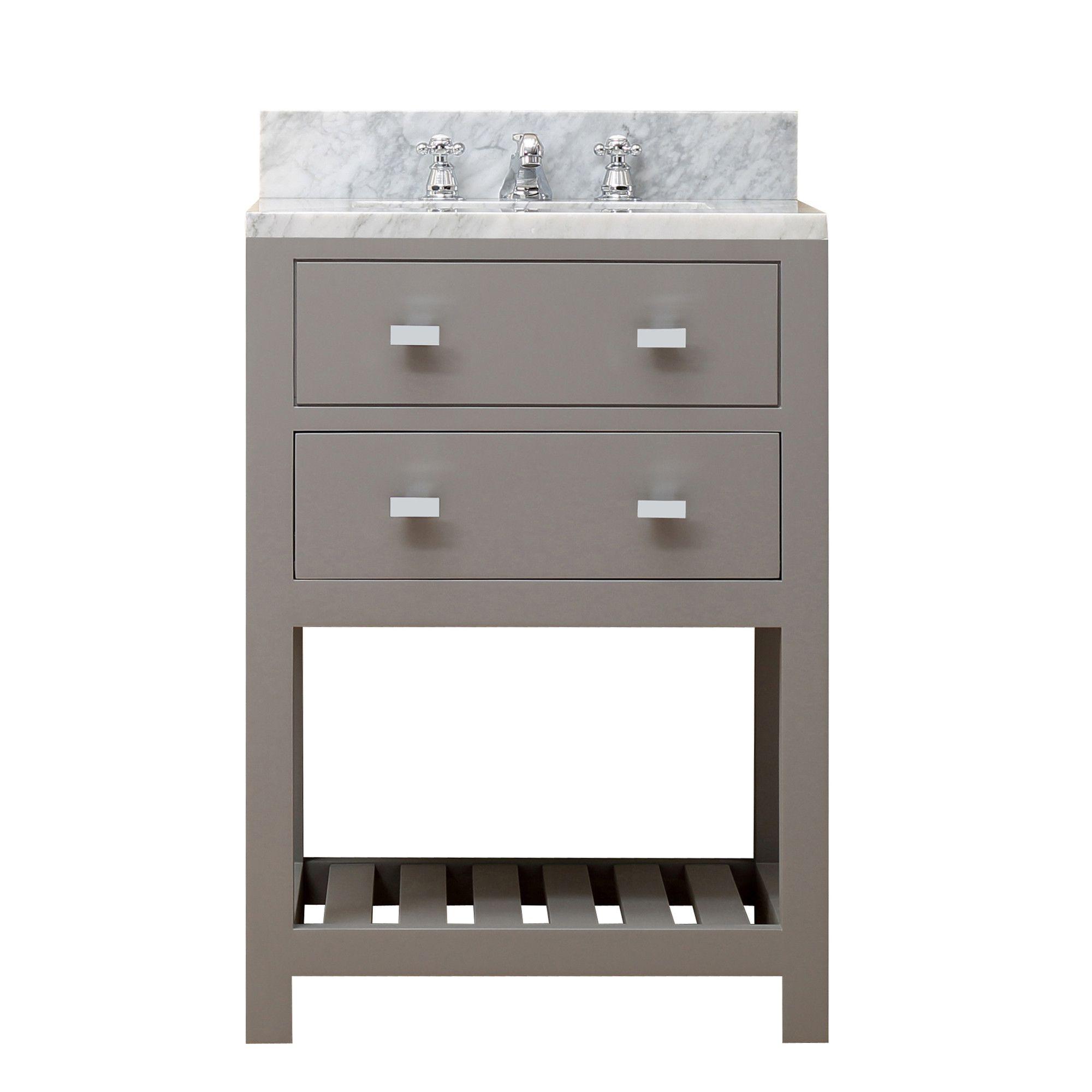 "dCOR design Creighton 24"" Single Sink Bathroom Vanity Set"