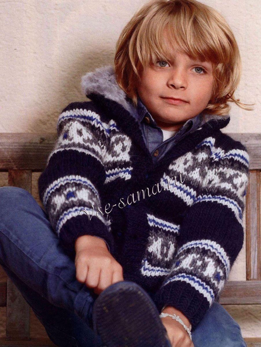 Курточка для мальчика спицами 11