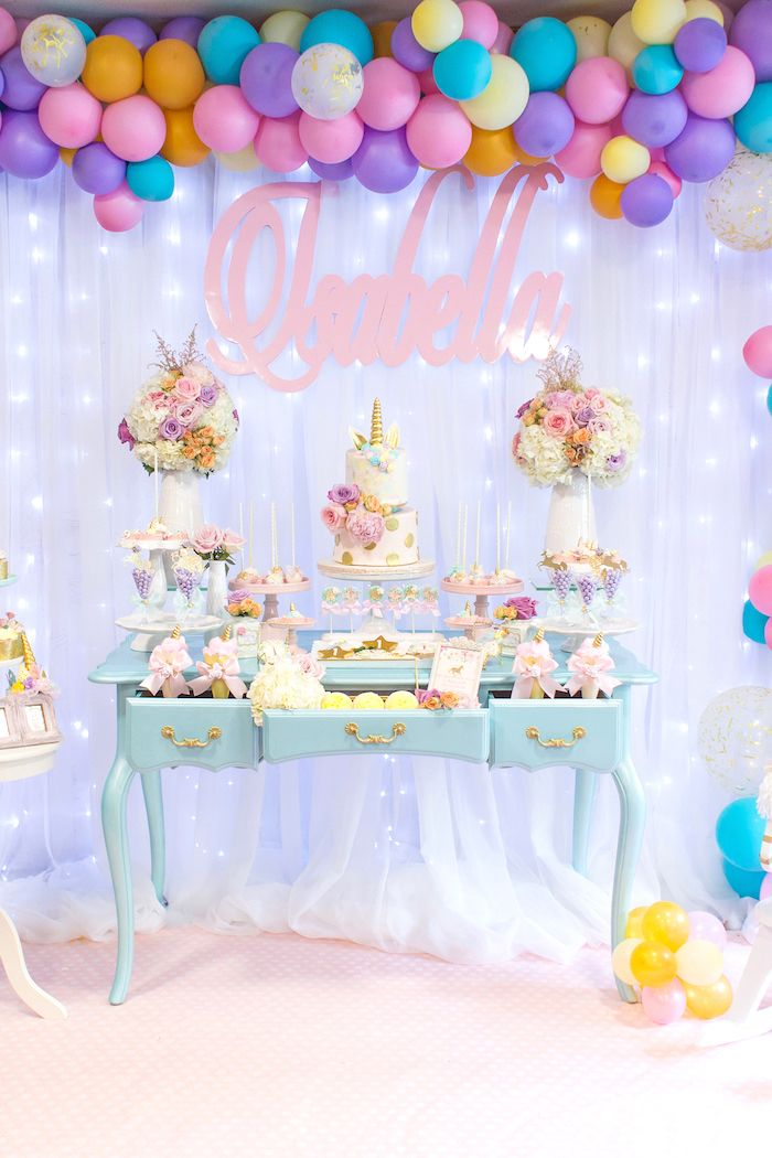Mystical And Magical Unicorn Birthday Party Decoracion De